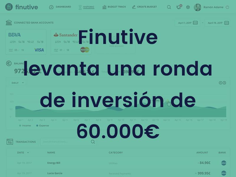 #2 Nota de prensa: Finutive levanta una ronda de inversión de 60.000€