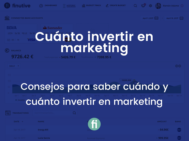 ¿Cuánto puedo invertir en Marketing?