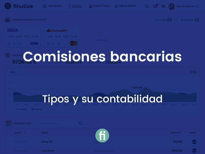Tipos de comisiones bancarias y su contabilidad