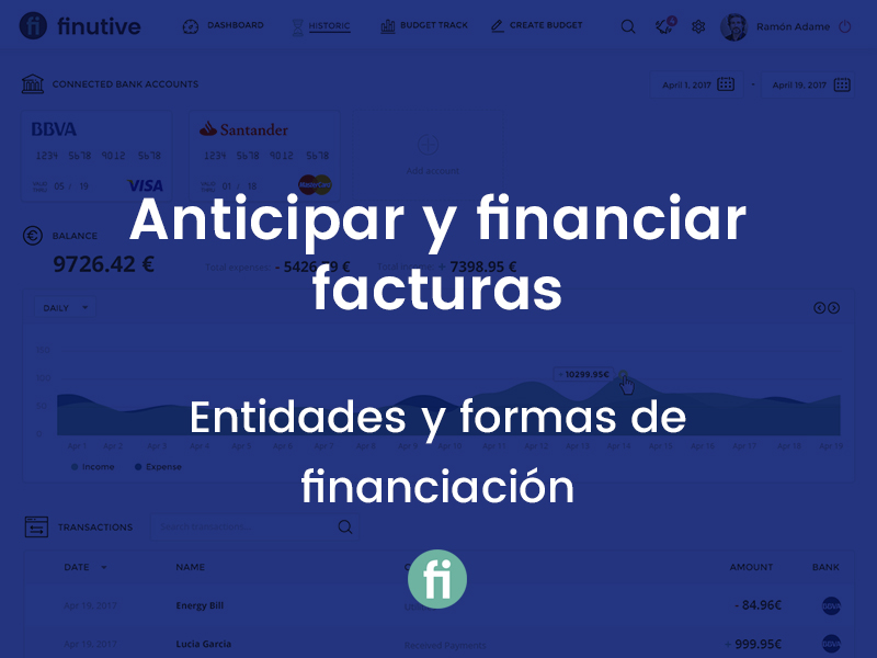 Anticipar y financiar facturas emitidas